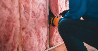 installing pink wall insulation