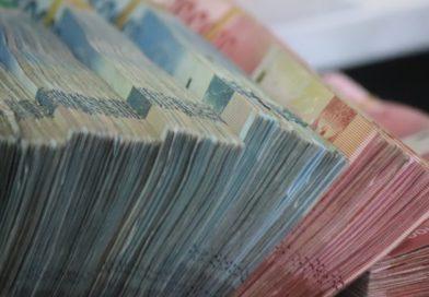 stacks of British Pounds